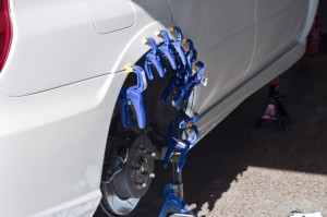 Aggressive Fender Mod 2005 to 2007 Subaru Impreza WRX STi Clamps on fender