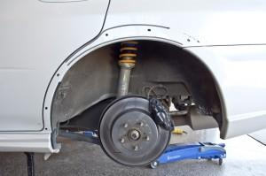 Fender Mod Aggressive Pull STi 2005-2007 Rear Flare Removed