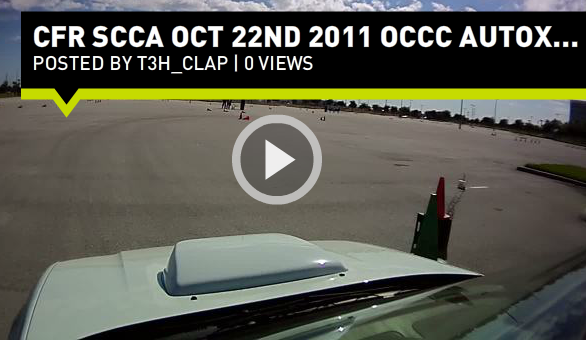 AutoX @ OCCC hosted by CFR SCCA on Oct 22nd 2011.