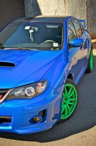 Ivans2011SubaruImprezaWRXSTi Enkei GTC01 Green