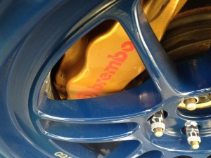 Blue RPF1 17x9 +35mm 8mm Spacer Brembo Clearance STi