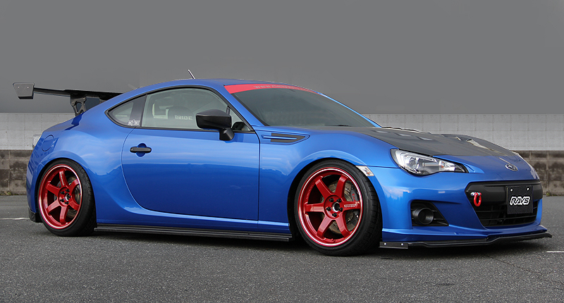 Red TE37RT on BRZ