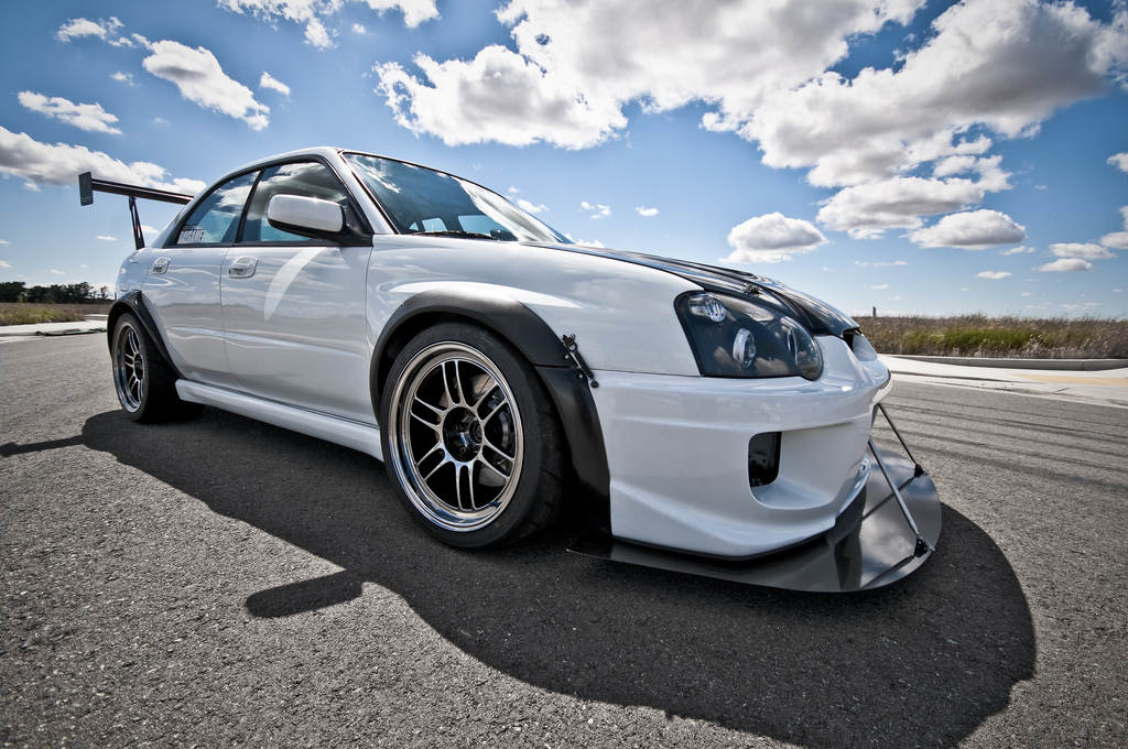 Custom front Splitter and Karlton Flares 2004 7 Subaru