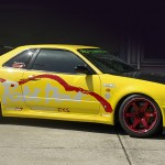 Nissan R34 GTR Red TE37 RT by Volk Racing and Rocket Dancer